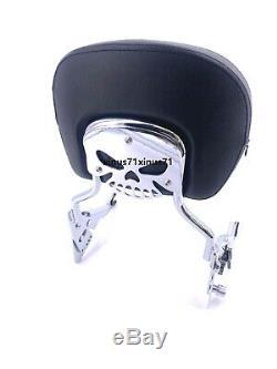 Premium Detachable Backrest Adjustable Sissy Bar Latch Kit Harley Touring 09-19