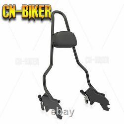 Quick Detach CNC Tall Sissy Bar Backrest withHarley Lock 18+ Harley Softail Series