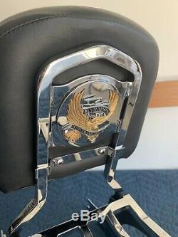Quick Detachable Sissy Bar Passenger Backrest & Rack for Harley Davidson Softail