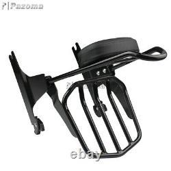 Rear Backrest Sissy Bar Luggage Rack For Harley Dyna Wide Glide FXDWG 06-up FXDL
