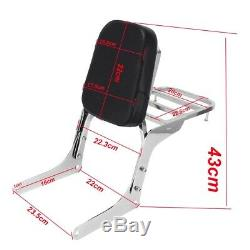 Rear Backrest Sissy Bar Luggage Rack Pad for Honda Rebel 250 CMX 250 CA250 all
