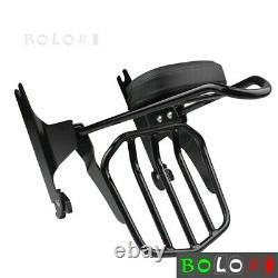 Rear Backrest Sissy Bar Luggage rack For Harley Softail Slim FLS Deluxe FLSTN