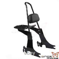 Rear Passenger Backrest Sissy Bar withLuggage Rack For Harley Sportster XL 94-03