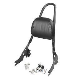 Rear Sissy Bar Backrest Black For Harley Davidson Sportster XL 883 1200