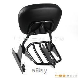 Rear Sissy Bar Backrest Luggage Rack Fits Harley Davidson Dyna Wide Glide FXDWG