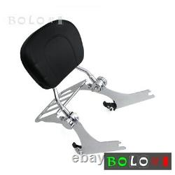 Rear Sissy Bar Backrest &Luggage Rack For Harley Dyna Fat Bob Wide Glide 10-2017