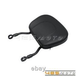 Rear Sissy Bar Backrest Luggage Rack WithPad For 00-19 Harley Softail Custom FLSTC