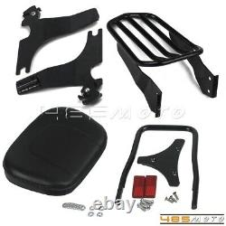 Rear Sissy Bar Backrest Passenger For Harley Sportster Custom XL883 XL1200 94-13