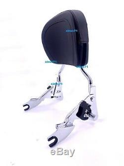 SKULL Adjustable Detachable Backrest Sissy Bar Harley Touring HD 2018 2019 2020