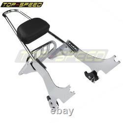 Sissy Bar Backrest Chrome Luggage Rack for Harley Sportster XL 883 1200 2004-UP