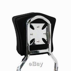 Sissy Bar Backrest Luggage Rack 09+ Harley Davidson Touring QUICK DETACHABLE