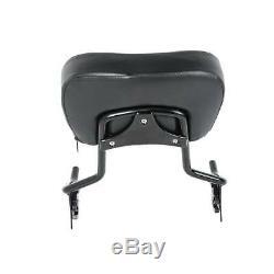 Sissy Bar Backrest Luggage Rack + Docking Kit For Harley Touring Glide 2014-2020
