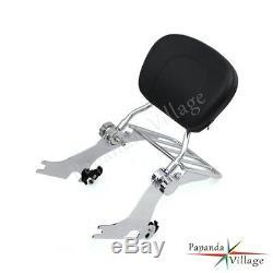 Sissy Bar Backrest Luggage Rack For Harley Davidson Sportster XL 883 1200 04-up