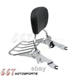 Sissy Bar Backrest Luggage Rack For Harley Electra Glide Ultra Classic FLHTCU