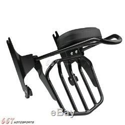 Sissy Bar Backrest Luggage Rack For Harley Softail Standard FXST 2000-2005 Black