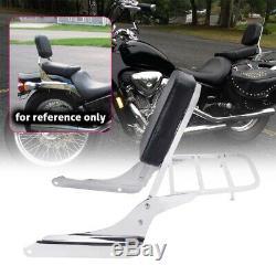 Sissy Bar Backrest Motorcycle Back Rest Pad For Honda Shadow VLX 600 VT600 99-07