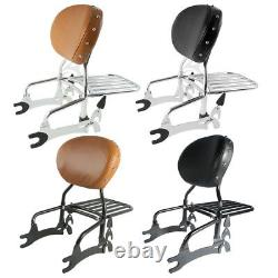 Sissy Bar Backrest Pad Luggage Rack Fit For Indian Chief Classic Vintage 14-2018