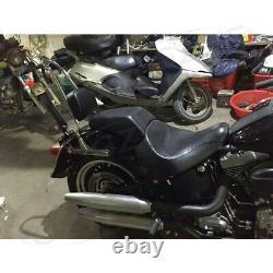 Sissy Bar Backrest Pad for Harley Fatboy Sofitail 2006-2008 Detachable Chrome
