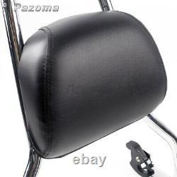 Sissy Bar Backrest Passenger Pad with Mount Kit For Harley FXST FXSTB FXSTC 06-15