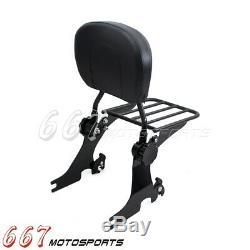 Sissy Bar Backrest Passenger with Luggage Rack For Harley Sportster XL883 1200