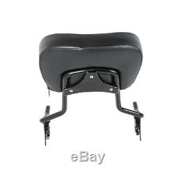 Sissy Bar Backrest with Stealth Luggage Rack Docking Kit For Harley Touring 14-Up