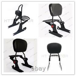 Sissy Bar Detachable Backrest For Harley Davidson Softail Fatboy FXST FLST 00-06