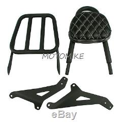 Sissy Bar Luggage Rack Backrest Diamond Pad Kit For Yamaha Stryker 1300 XVS1300
