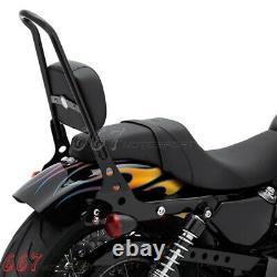 Sissy Bar Luggage Rack Backrest For Harley Dyna Fat Bob FXDF Wide Glide 2006-20