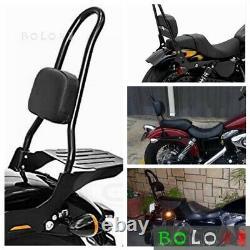 Sissy Bar Luggage Rack + Backrest Pad For Harley Dyna Fat Bob Street Bob 2006-19