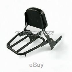 Sissy Bar Luggage Rack Backrest Pad Hot For Kawasaki Vulcan S 650 VN650 15-19
