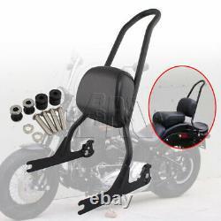 Sissy Bar Pad Passenger Backrest For Harley Softail 06-2017 Fatboy 2007-2017 08