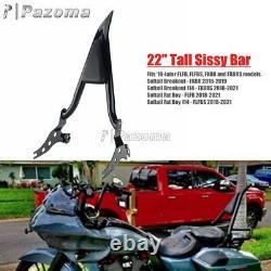 Sissy Bar Passenger Backrest with Pad For Harley Softail FLFB FLFBS FXBR FXBRS 18+