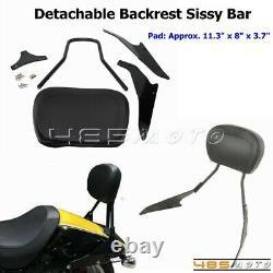 Sissy Bar Passenger Rear Backrest For Suzuki Boulevard M109R Boss 2006-19 Black