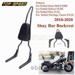 Sissy Bar Passenger Rear Backrest for Harley Softail Street Bob FXBB FLDE FLHC