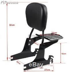 Sissybar Passenger Backrest + Luggage Rack Fits Harley Softail Slim 2000-2005
