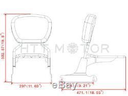 Sissybar backrest Detachable luggage rack For Harley Softail 200mm rear tire fen