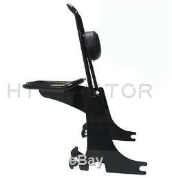 Sissybar backrest Detachable luggage rack For Harley Sportster 04-16 Black