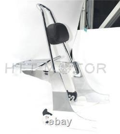 Sissybar backrest Detachable luggage rack For Harley Sportster 04-16 Chrome