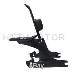 Sissybar backrest luggage rack Detachable For Harley Dyna 06-up Black