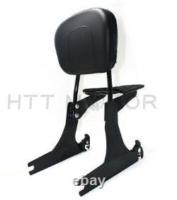 Sissybar backrest luggage rack Detachable For Harley FXDWG Dyna Wide Glide05-19