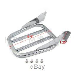 Skull Detachable Sissy Bar Backrest Luggage Rack for 00-17 FLSTC FXST FXSTB