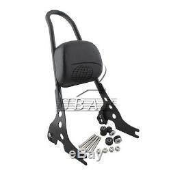 Steel Passenger Backrest Pad Sissy Bar Cushion For Harley Sportster XL1200 883