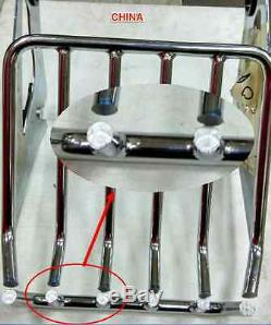 TALL CHROME harley davidson quick release Sissy Bar backrest pad touring 09-2019