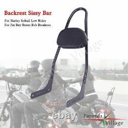 Tall Backrest Passenger Sissy Bar For Harley Softail Street Bob Breakout 18-2020