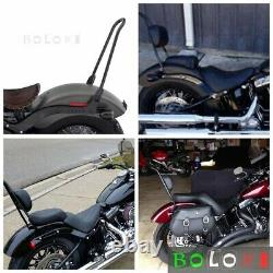 Tall Sissy Bar Backrest + Pad For Harley Deluxe FLDE / Street Bob FXBB 2018-2021