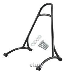 Universal Black Steel Short Sissy Bar Backrest For Harley Sportster XL 883 1200